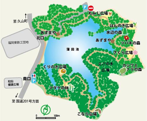 篠栗九大の森 案内図